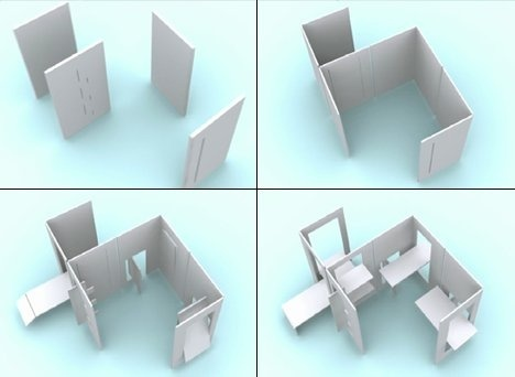 Yanko Deigns introduces 2D #furniture for a 3D world. All pieces fold down and become completely flat for incredibly easy storage. #design #
