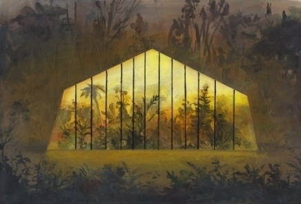Jeremy Miranda Print 2, Greenhouse in the Woods | Little Paper Planes #house #miranda #woods #jeremy #green