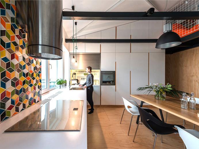 Elegantly Functional Loft by RULES architects - kitchen, #kitchendesign, kitchen ideas, interior design, #kitchen