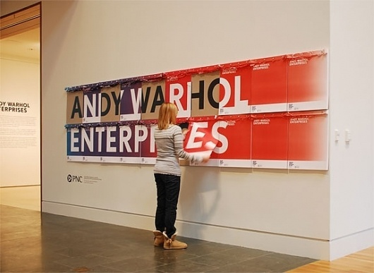 Indianapolis Museum of Art Title Graphic and Poster - FPO: For Print Only #andy #design #graphic #warhol #exhibition #signage