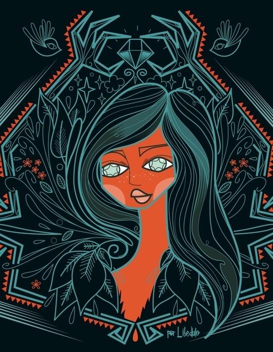 illustration 00123 #3 #illustration #colors #girl