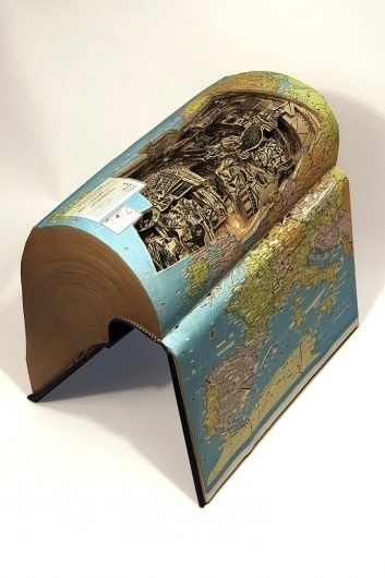 Insane art formed by carving books with surgical tools - Karan Arora's Posterous #book #sculting