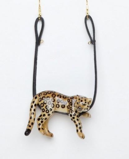 JJJJound #leopard #ceramic #cat #necklace