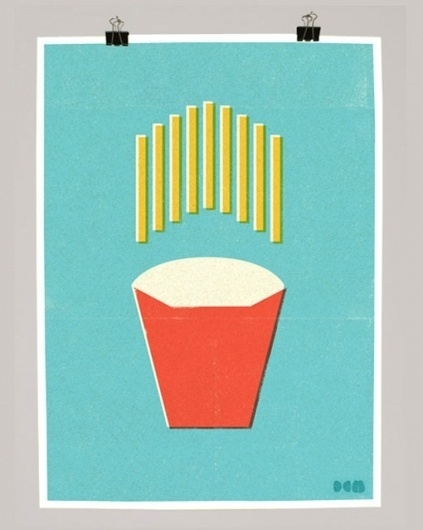 design work life » cataloging inspiration daily #screenprint #fries #food