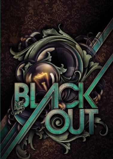 Flyerfolio – A showcase for awesome flyer designs» Blog Archive » Blackout #flyer #typography