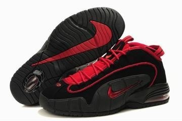 Nike Penny 1 Men Black/Red Basketball Shoes #shoes