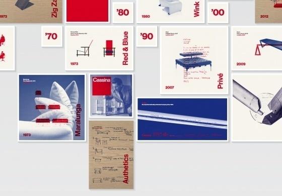 Cassina timeline on Behance #print #branding