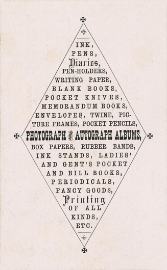 William McCormick, Stationer | Sheaff : ephemera #type #typography