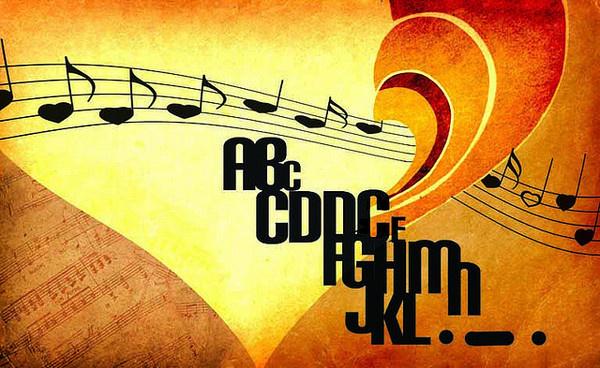 tipofonia | Flickr #heart #illustration #music #typo #typography