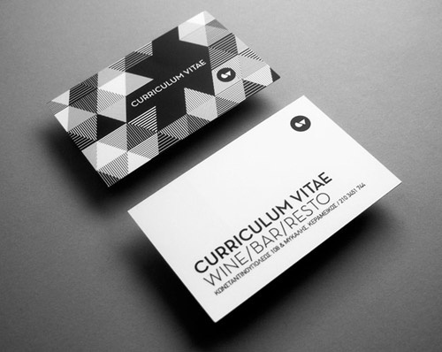 50 Beautiful Black and White Business Cards - CrazyLeaf Design Blog #pattern #white #business #card #black