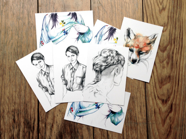 Postcards inineumann #neumann #germany #hair #papergoods #illustration #aquarell #ini #canyon #postcards