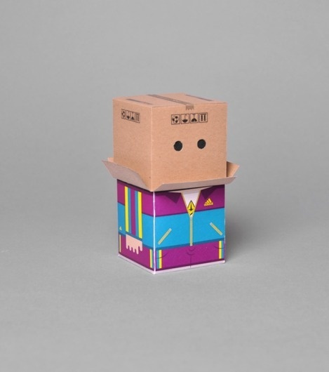 Randbox Crew on the Behance Network #elantidoto #design #graphic #illustration #paper #toy