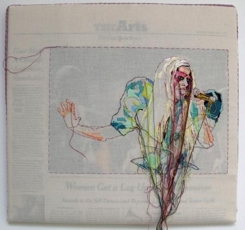 Lauren DiCioccio #thread #gaga #newspaper #art