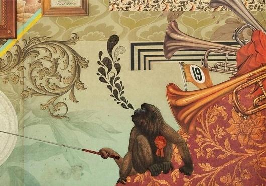 High Street Kensington Wall Graphics | Mammal #montage #interiors #wall #signage #graphics