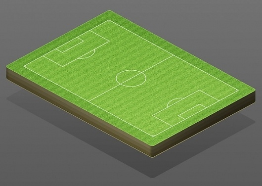 Isometric International Football Field Illustration on the Behance Network #football #field #ilustration