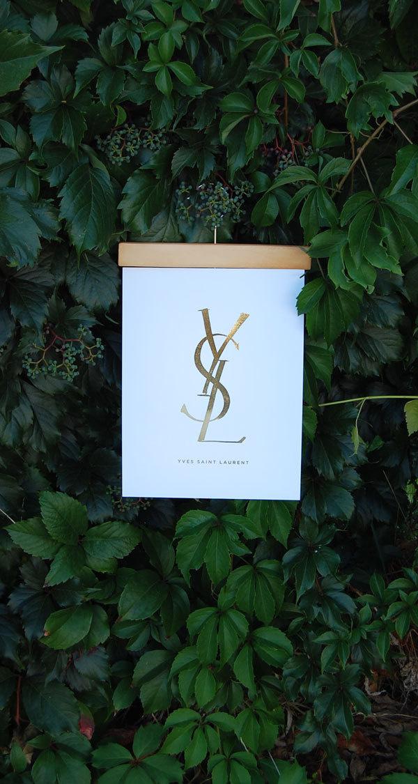YSL_3 #ysl #print #style #gold #fashion #high #foil