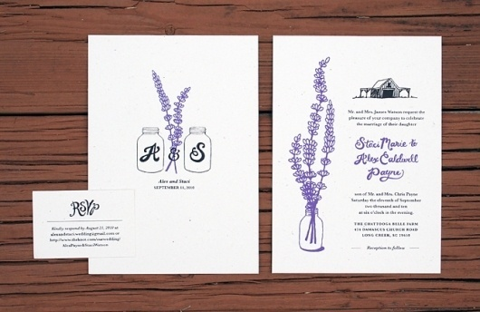 Wedding Invitations - Delane Meadows #invite #print #invitation