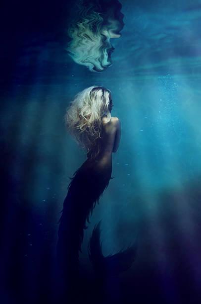 Underwater goddess
