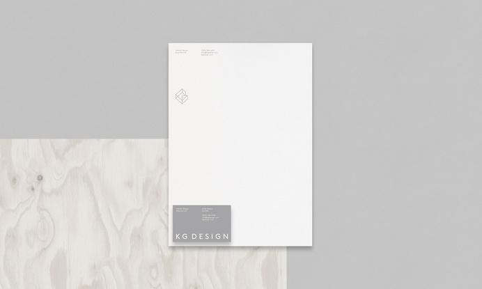 KG Design branding corporate identity beautiful minimal designer mindsparkle mag business card grey deluxe luxury simple clean minimal stati