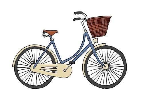 flora | florafrickerart: bicycle illustration by Flora... #flora #bicycle #fricker #illustration #bike
