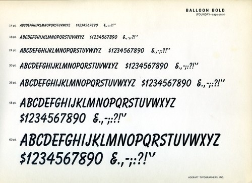Daily Type Specimen   Ballon Bold is the bold weight of a family of... #typography