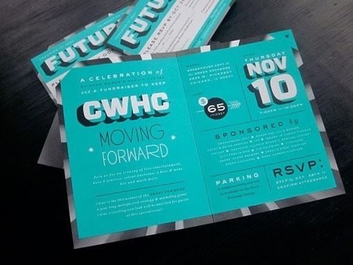 design work life » Chicago Women's Health CenterInvite #type #design #graphic #typography