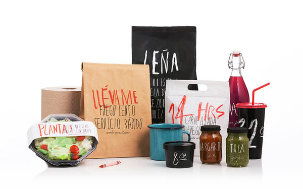 Santa Cruz Mexican BBQ Restaurant Packaging Design by Anagrama #design #branding #typography