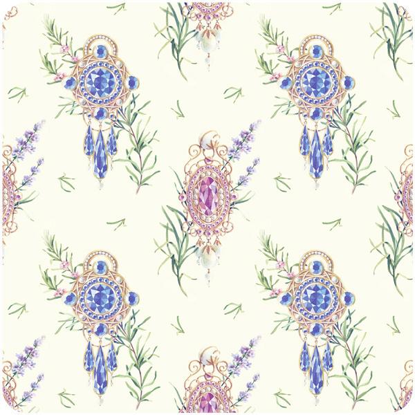 jewelry pattern on Behance #pattern #floral