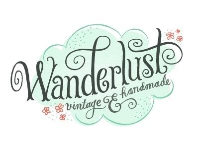 Dribbble - Wanderlust Logo by Mary Kate McDevitt #logo #lettering #typography