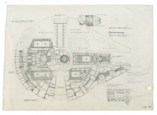 Architecture Photography: Blueprints of the Star Wars Galaxy - Blueprints of the Star Wars Galaxy (164035) - ArchDaily #drawings #wars #star