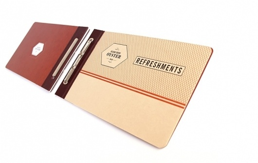 Looks like good Graphic Design by Oat #menu #collateral #restaurant