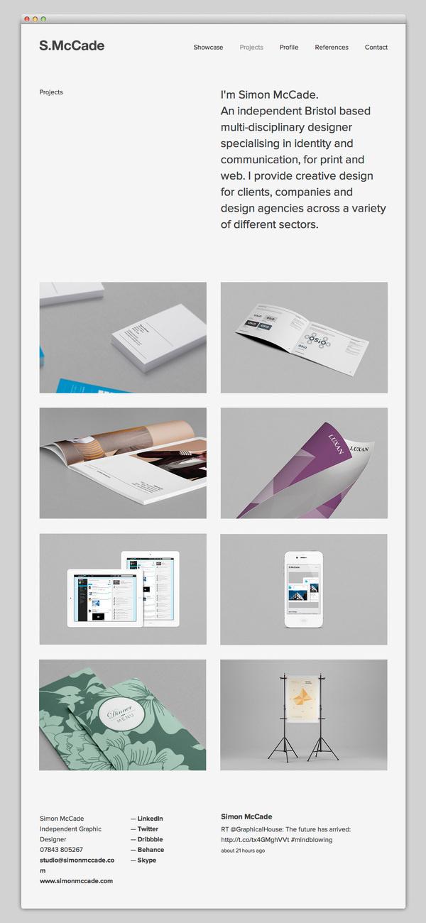 Simon McCade #website #layout #design #web