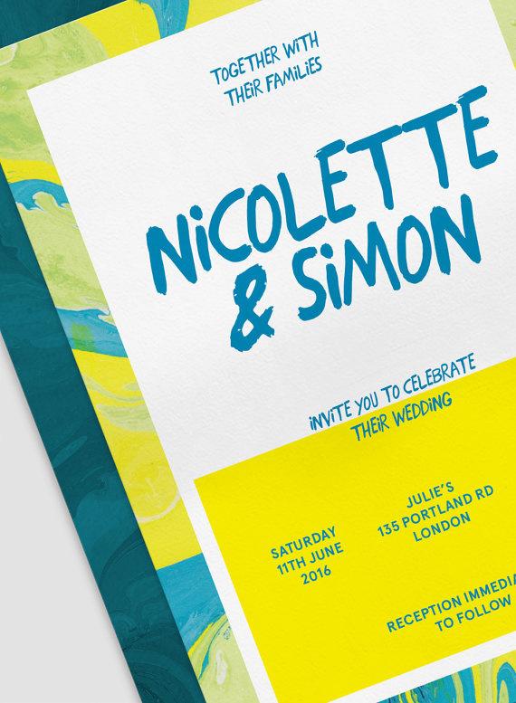 #wedding#invitation#marbling#suminagashi#typography#minimalist#contemporary#designer#paper#craft
