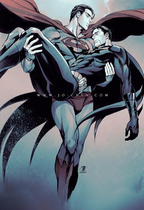 Superman & Batman by Jo Chen