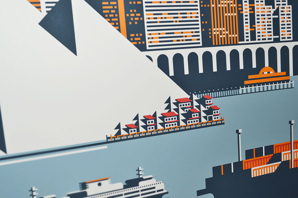 waterfront rick murphy4 #illustration #travel #poster