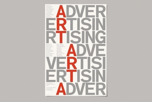 This is Real Art | Projects | Chambers Gallery #poster #typography