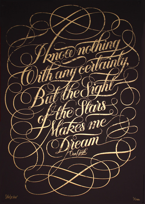 Beautiful Limited Edition Print by Seb Lester #lettering #script #poster