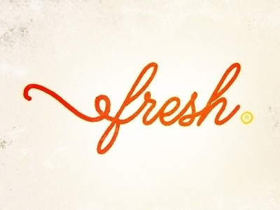 Dribbble - Fresh by Yossi Belkin #cursive #logo #fresh