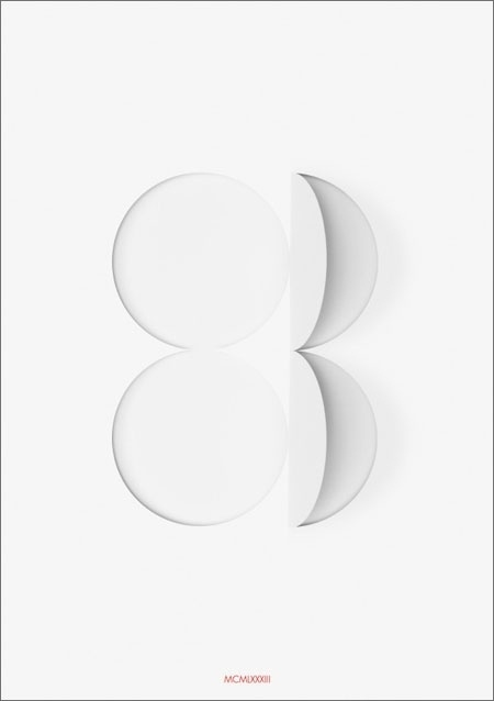 Forty Posters for Forty Years | New at Pentagram #white #1983 #negative #space #poster #pentagram