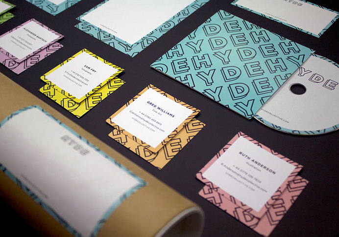 Hyde Arts collective #stationery #colours #branding #pastel