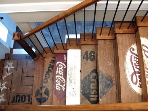 Crate Styled Stairway by Donna Williams - The Black Workshop #photo