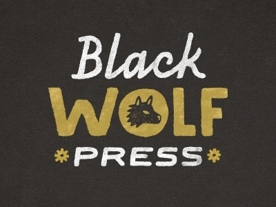 Dribbble - black wolf press by Gerren Lamson #black #press #drawn #wolf #logo #hand