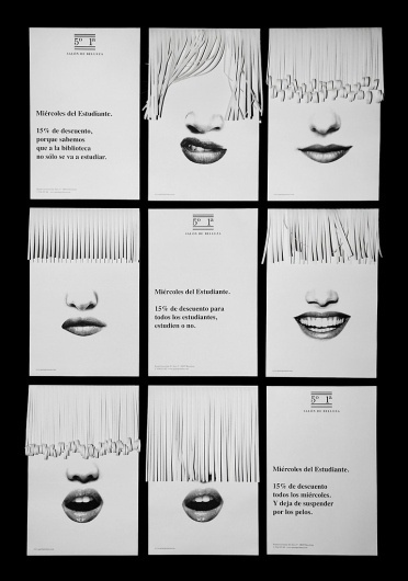 2009 - Bendita Gloria #white #spain #black #gloria #haircut #document #poster #and #barcelona #sheredder #face #saloon #bendita #hardressing #51