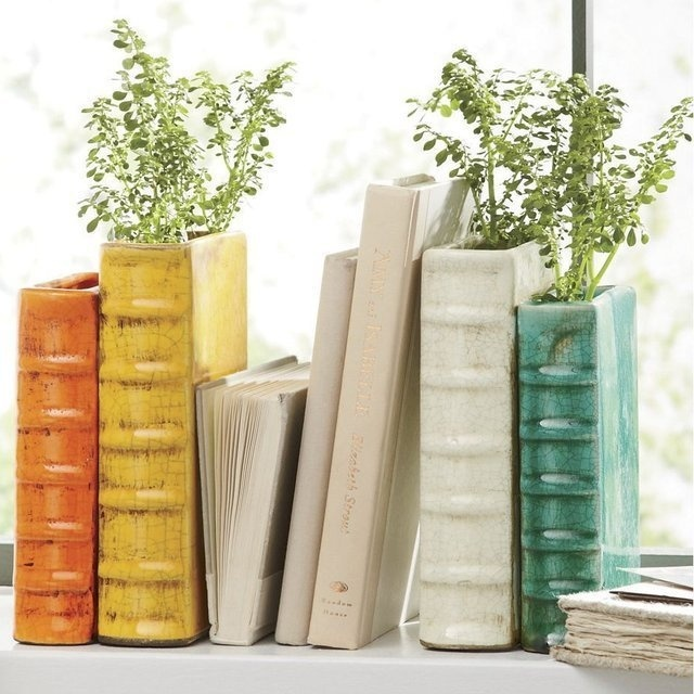 Book Vase Bookends #tech #flow #gadget #gift #ideas #cool