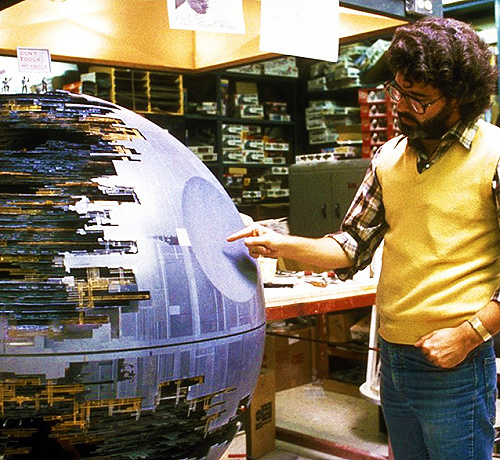 George Lucas on the set of Star Wars: Episode VI - The Return of the Jed. #jedi #george #director #wars #space #photography #star #lucas
