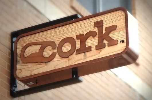 ONEFASTBUFFALO } Portfolio & Case Studies } Cork Wine Market. #type #logo