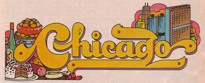Chicago, Eating Weekends #chicago #city #logo #1970s #type #typography