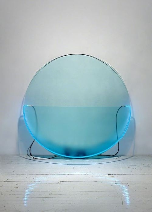 Keith Sonnier, Â Lit Circle Blue #acrylic #design #art #object #lighting