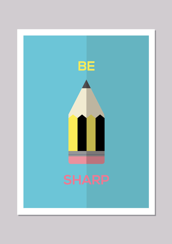 Inspirational Stationary #computer #vector #stationary #camera #print #design #digital #illustration #poster #art #pen #pencil