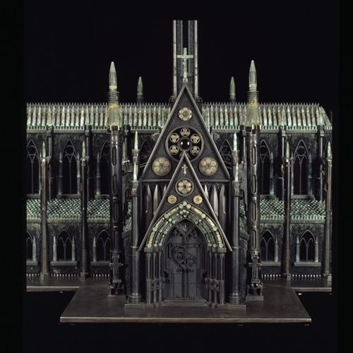 From Bullets and Guns, Models of Churches, Mosques, Synagogues - DesignTAXI.com #weapon #church #bullets #building #guns